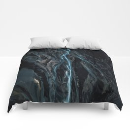Abstract River in Iceland - Landscape Photography Comforters