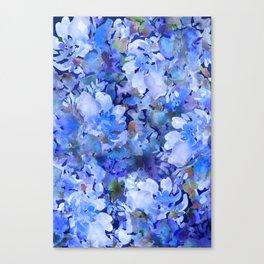 Wild Blue Rose Garden Canvas Print