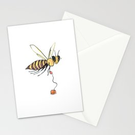 Bee Walking Her Varroa Stationery Cards