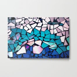 Turquoise and blue mosaic-(photograph) Metal Print