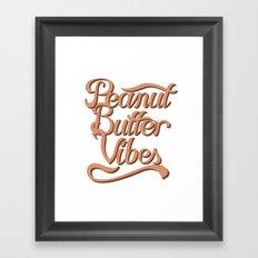 Peanut Butter Vibes Framed Art Print