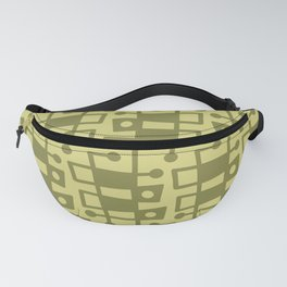 Mid Century Modern Abstract 213 Olive Green Fanny Pack