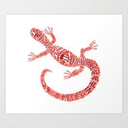 Celebration of the lizard Art Print