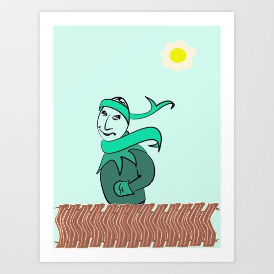Sunnyside Up kind of Day. Art Print