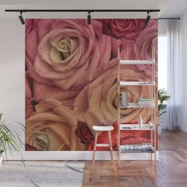 """""""Bouquet of fantasy roses (Fairy tale)"""" Wall Mural"""
