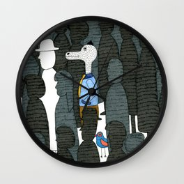 Mr.Master in the crowd Wall Clock
