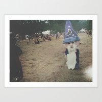 wizard Art Prints featuring Wizard by Gabrielle Wall
