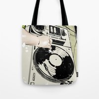 dj Tote Bags featuring DJ! by Parrish