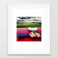 woodstock Framed Art Prints featuring Woodstock by Leah Galant