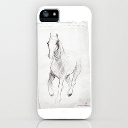 Horse (Notebook) iPhone Case