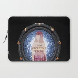 Knee before your Goddess Laptop Sleeve