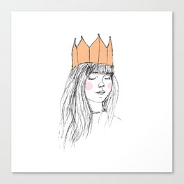 ROSY-CHEEKED PRINCESS Canvas Print