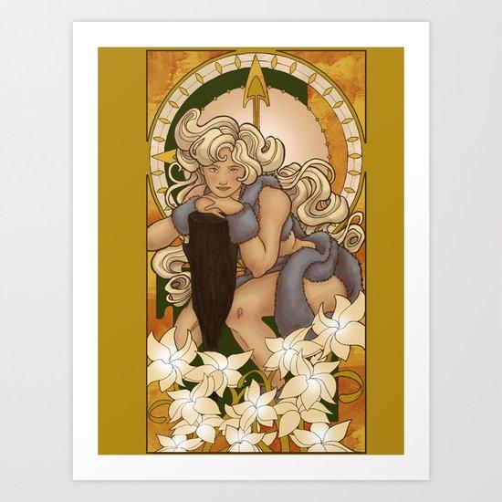 Chronos III Nouveau Art Print