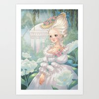 marie antoinette Art Prints featuring Marie-Antoinette by Pich illustration