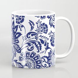 damask blue and white Coffee Mug