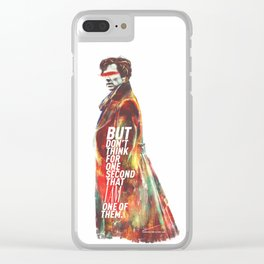 Not One Of Them Clear iPhone Case