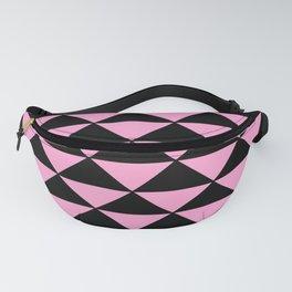 Graphic Geometric Pattern Minimal 2 Tone Infinity Triangles (Pastel Pink & Black) Fanny Pack