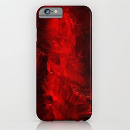 Red And Black Luxury Abstract Gothic Glam Chic by Corbin Henry iPhone Case