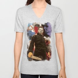 "Michael Myers Halloween ""The Curse of Thorne"" Unisex V-Neck"