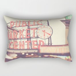Seattle Pike Place Public Market photograph, 620 Rectangular Pillow