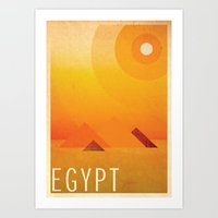 egypt Art Prints featuring Egypt by LG Design