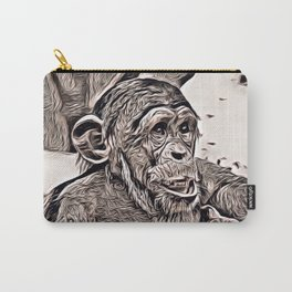 Rustic Style - young Chimp Carry-All Pouch