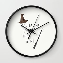 You're the Wand that I Want. Wall Clock
