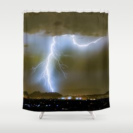 Into the Arizona Monsoon Evening Shower Curtain