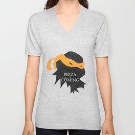 Pizza Time Unisex V-Neck