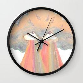 Cloud pink Wall Clock