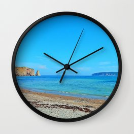 Perce Beach Wall Clock