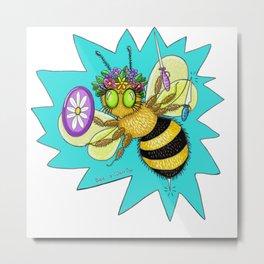 Bee a Warrior Metal Print