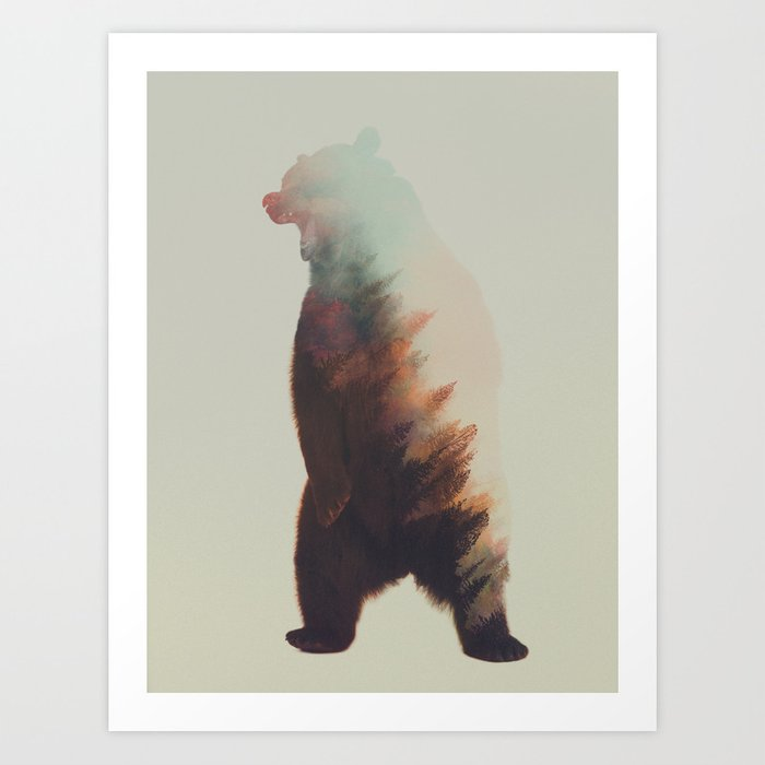 Discover the motif NORWEGIAN WOODS: BEAR by Andreas Lie as a print at TOPPOSTER