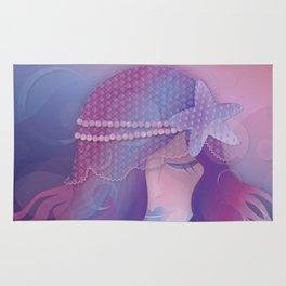 Mermaid IV - Pink Violet Princess Rug
