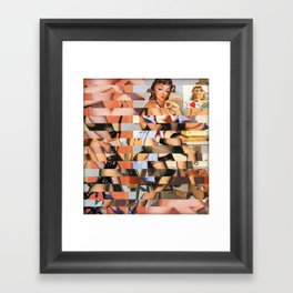 Glitch Pin-Up Redux: Whitney Framed Art Print