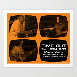 TIME OUT, MARIA MARIA (4, ORANGE) - AUSTIN, TX Art Print