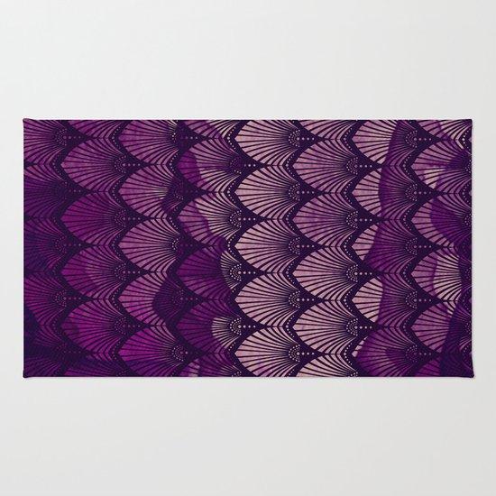 Variations on a Feather II - Purple Haze  Rug