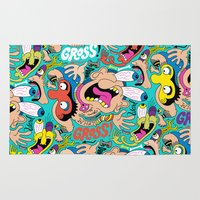 weird Area & Throw Rugs featuring Weird Pattern by Chris Piascik