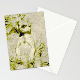 Pop Art Meerkat 1 Stationery Cards