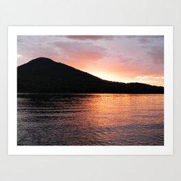 Mystical Mountain Sunset Art Print