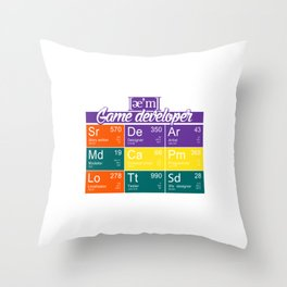 ae'm Game developer Throw Pillow