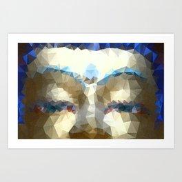 Buddha Eyes Mosaic Art Print