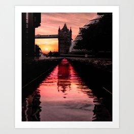 Water pink Art Print