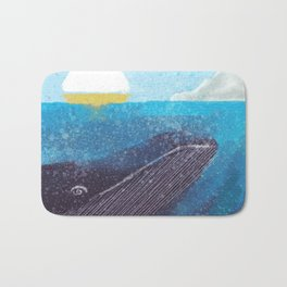 The Whale And The Yellow Sail Boat Bath Mat