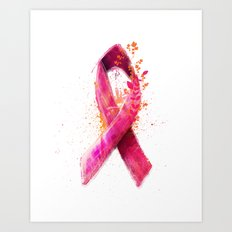 Breast Cancer Ribbon Art Print
