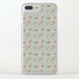 Hokusai Cuckoo and azaleas 2 -hokusai,manga,japan,Katsushika,cuckoo,azaleas,Rhododendron Clear iPhone Case