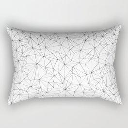 Geometric Line Art Design Rectangular Pillow
