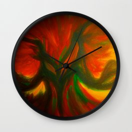 The Angry Tree Wall Clock