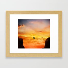 sunset balance Framed Art Print