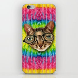 TIE DYE CAT iPhone Skin